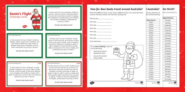 Santa's Journey  Activity Pack-Australia