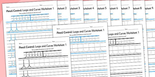 Pencil Control Loops And Curves Workbook - fine motor skills