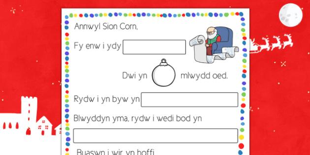 Llythyr Sion Corn Welsh - welsh, cymraeg, letter, father christmas, procedure