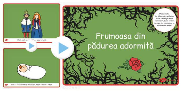 Frumoasa din Padurea Adormita, Powerpoint, rezumat cu imagini, Romanian