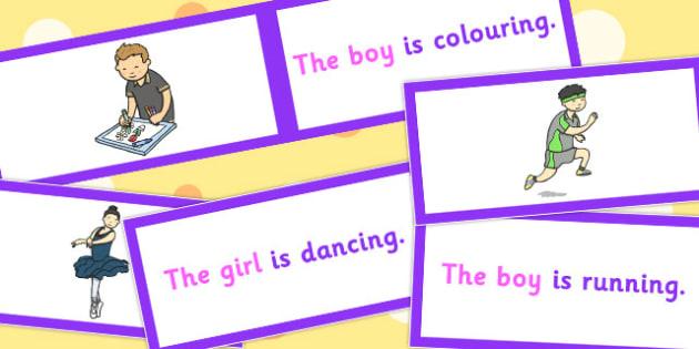 SV Picture Description Cards Set 2 - sv, picture, description