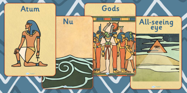 Ancient Egyptian Creation Story Display Posters - ancient egypt
