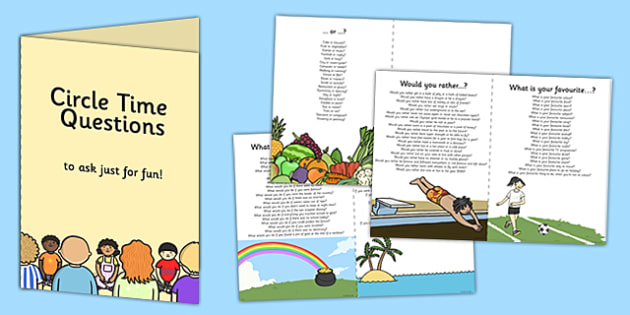 100 Circle Time Questions to Ask Just for Fun Booklet - circle time