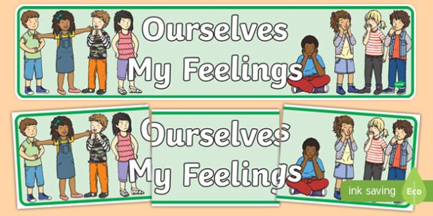 Ourselves: My Feelings Display Banner