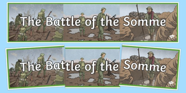The Battle of the Somme Display Banner