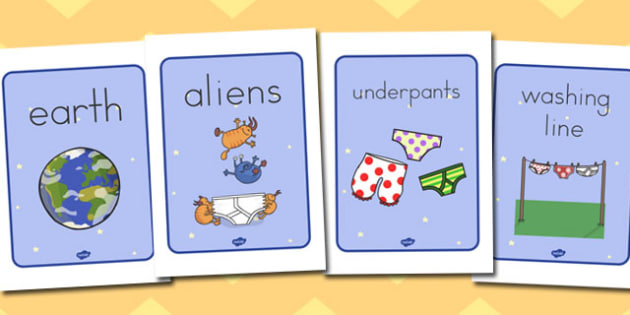 Display Posters to Support Teaching on Aliens Love Underpants - australia, aliens, underpants