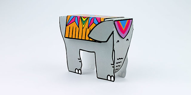 Diwali Elephant Cutout Template - diwali, elephant, cutout, cut out, cut-out, template, cut out template, diwali elephant, elephant template, cut and stick
