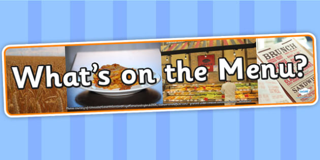 Whats on The Menu IPC Photo Display Banner - on the menu, IPC display banner, IPC, on the menu display banner, IPC display, menu role play