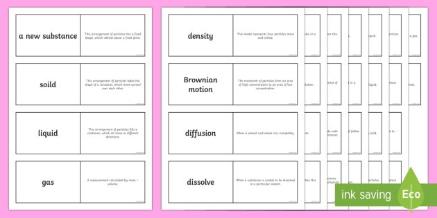 Physical Changes Loop Cards