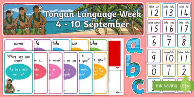 Tongan Language Week Resource Pack