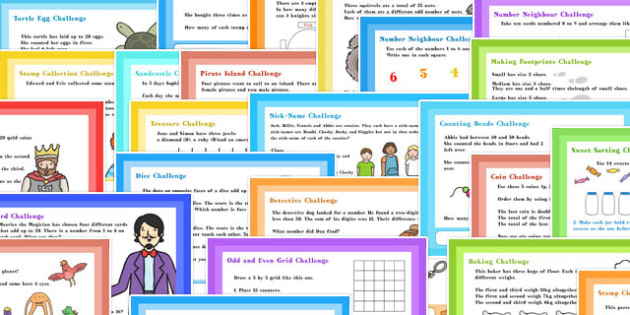 A4 LKS2 Mixed Maths Challenge Posters - challenge, posters, a4