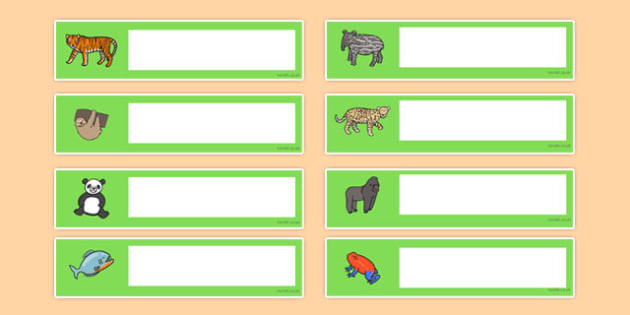 Jungle and Rainforest Themed Editable Gratnells Tray Labels