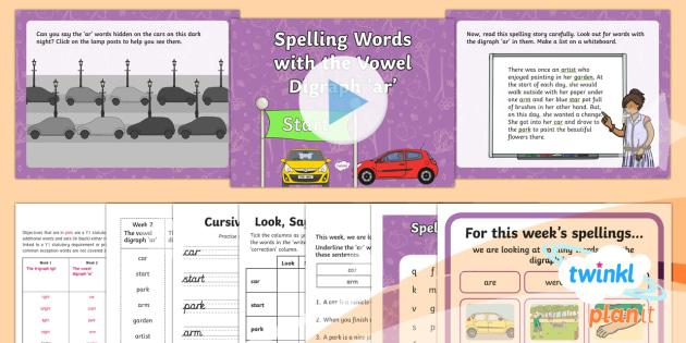 PlanIt Y1 Term 2A W2 'ar' Spelling Pack - Spelling Packs Y1, Term 2A, week 1, ar