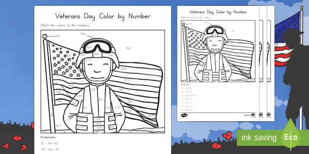 Veterans Day Color by Number