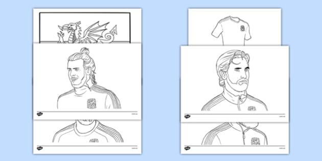 Wales Football Team Colouring Sheets - wales, football team, football, colouring sheet, colouring, colour