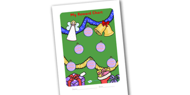 Sticker Reward Chart Christmas Themed (30mm) - christmas, sticker