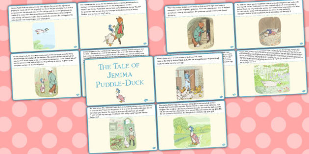The Tale of Jemima Puddle-Duck Story Cards - jemima puddle-duck