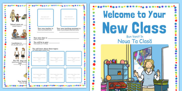 Welcome to Your New Class Booklet Romanian Translation - romanian