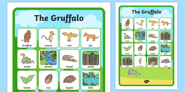 The Gruffalo Vocabulary Matching Mat -  the gruffalo, vocabulary, vocabulary poster, pirates poster, display poster, poster for display, classroom display