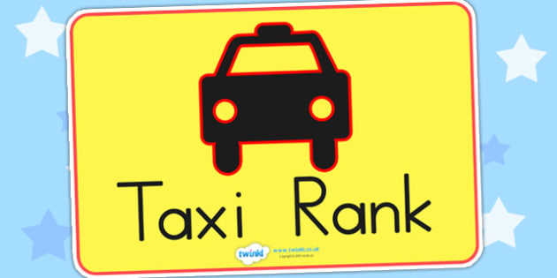Bus Station Role Play Taxi Rank Sign - bus station, transport