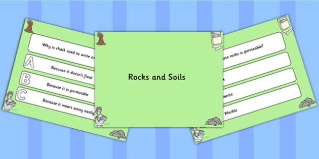 Rocks and Soils PowerPoint Quiz - rocks, soils, powerpoint, quiz