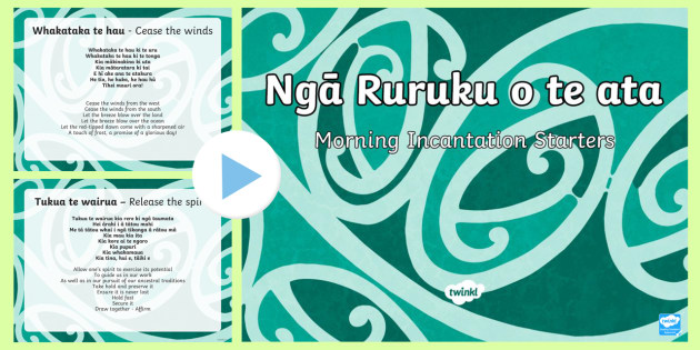 Ruruku  Morning Starters PowerPoint