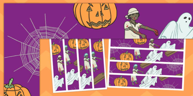 Halloween Display Border - festivals, celebrations, class display
