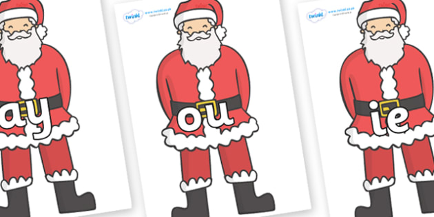 Phase 5 Phonemes on Father Christmas - Phonemes, phoneme, Phase 5, Phase five, Foundation, Literacy, Letters and Sounds, DfES, display