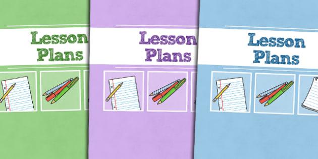 A4 Lesson Plans Divider Covers-Lesson plans, divider covers, A4 divider covers, A4, covers, dividers, themed divider covers, plans for lessons