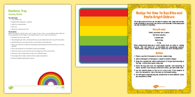 Rainbow Tray Busy Bag Resource Pack for Parents