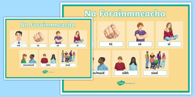 Forainmneacha Display Posters-Irish