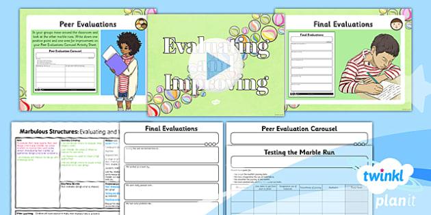 PlanIt - DT UKS2 - Marbulous Structures Lesson 6: Evaluating And Improving Lesson Pack - design criteria