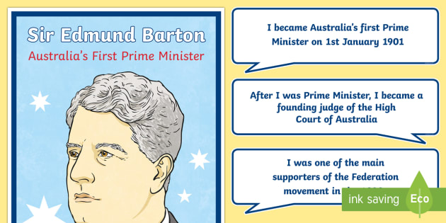 Edmund Barton Australia's First Prime Minister Display Pack-Australia