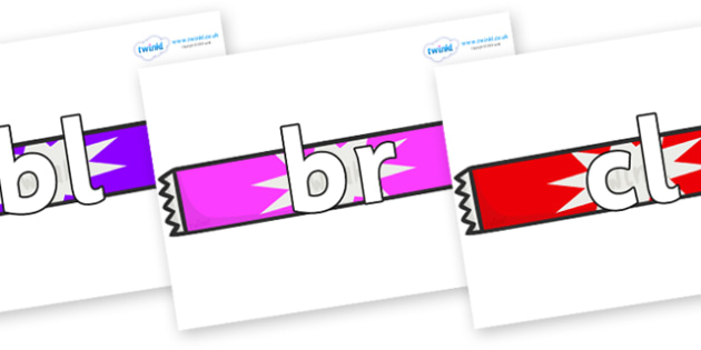 Initial Letter Blends on Candy Bars - Initial Letters, initial letter, letter blend, letter blends, consonant, consonants, digraph, trigraph, literacy, alphabet, letters, foundation stage literacy