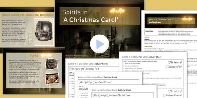 A Christmas Carol Lesson Pack 5: Spirits - Stave Four - spirits, a christmas carol, lesson pack