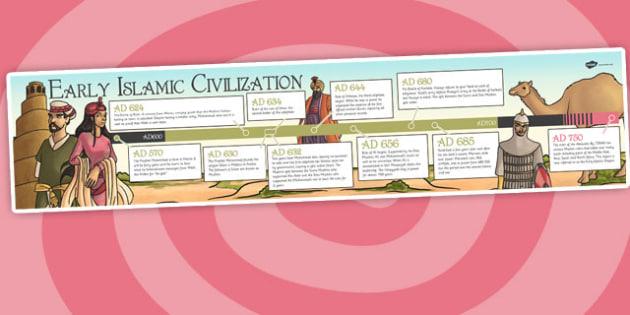 Early Islamic Civilization Timeline - islam, history, ks2 history