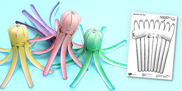 Under the Sea Simple 3D Octopus - 3d, octopus, under the sea