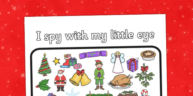 Christmas Dinner I Spy Activity Sheet - Christmas dinner, I spy, activity, sheet, worksheet