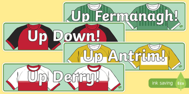 Ulster Counties GAA Display Banner-Irish