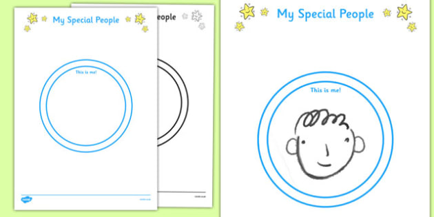 Special People Activity Sheet - special, people, activity, sheet, worksheet