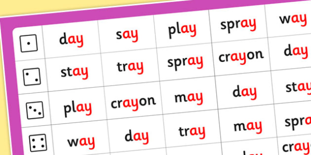 Phase 5 Roll and Read Mat ay - phase 5, roll, read, mat, ay