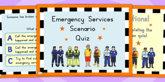 People Who Help Us Scenario Quiz PowerPoint - quizzes, games