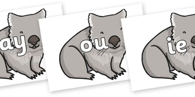 Phase 5 Phonemes on Wombat - Phonemes, phoneme, Phase 5, Phase five, Foundation, Literacy, Letters and Sounds, DfES, display