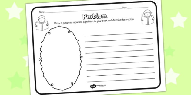 Problem Reading Comprehension Activity - problem, comprehension, comprehension worksheet, character, discussion prompt, reading, discuss, problem worksheet