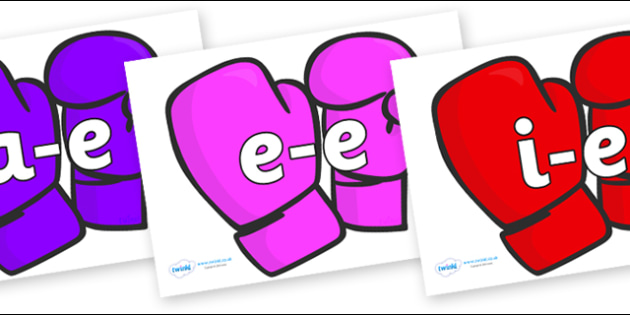 Modifying E Letters on Mittens - Modifying E, letters, modify, Phase 5, Phase five, alternative spellings for phonemes, DfES letters and Sounds