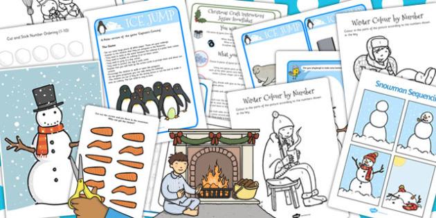 Childminder Snow Activity Pack - snow, activity pack, childminder