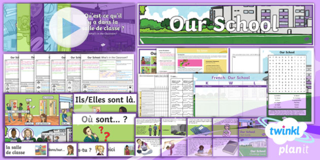 PlanIt - French Year 3 - Our School Unit Pack