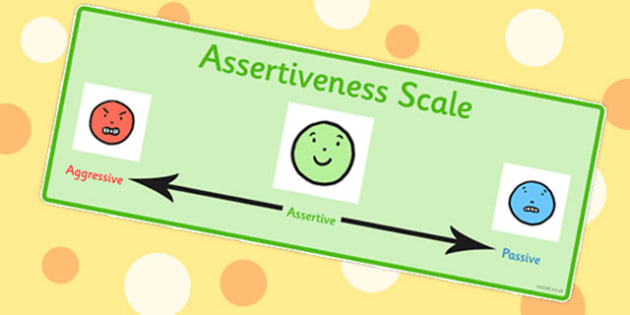 Assertiveness Scale - emotions, feelings, confidence, assertive