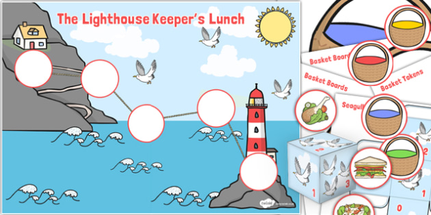 The Lighthouse Keepers Lunch Counting Game Resource Pack - pack