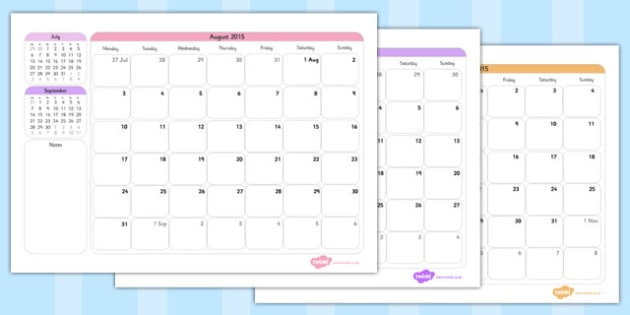 Academic Year Calendar August 2015 to August 2016 Scotland - calendar